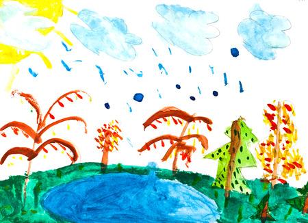 bambini disegno: bambini che disegnano Archivio Fotografico