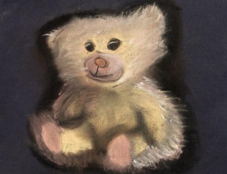 children drawing - little fluffy teddy bear photo