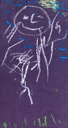 bambini disegno: bambini che disegnano - bambino sorridente all'aperto