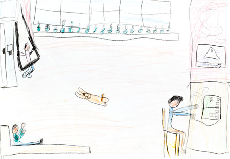 dessin enfants: dessin d'enfants - int�rieur de la chambre des enfants