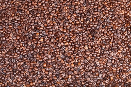 background from many roasted coffee beans