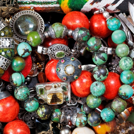 background from antique jewelry close up photo