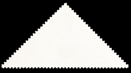 background from reverse side of triangular postage stamp on black photo