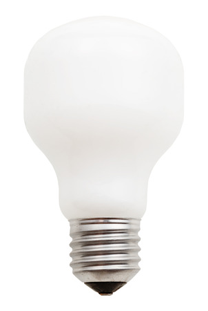 e27: usual incandescent light bulb isolated on white background