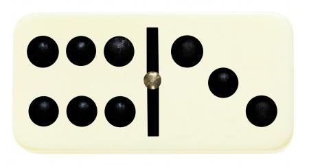 Sechs, Baum Domino Fliese auf isoliert auf weißem Hintergrund Standard-Bild - 25171680