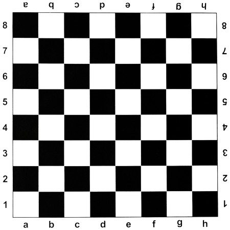 black and white checks of chess board photo