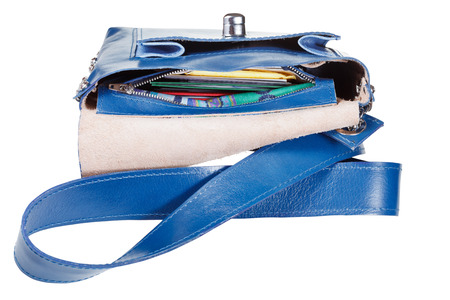 pochette: contents of his pockets a small female handbag