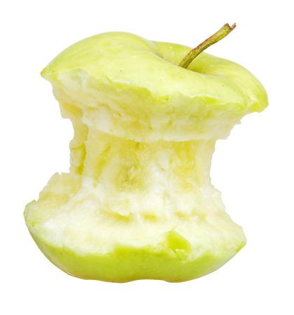 granny smith: end of granny smith apple isolated on white  Stock Photo