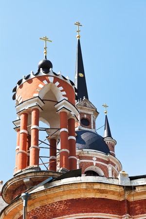 Towers of New Nikolsky Cathedral in Mozhaysk Kremlin, Moscow Regoin, Russia photo