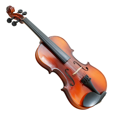 classical modern violin isolated  photo