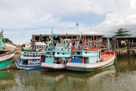 chao phraya river: living ships on chao phraya river in bangkok, thailand