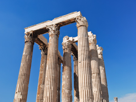 olympian: colonnade of Temple of Olympian Zeus, Athens, Greece Stock Photo