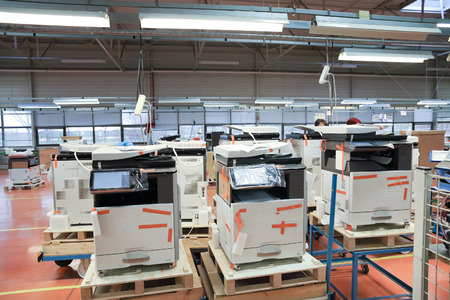 production of office devices on factory