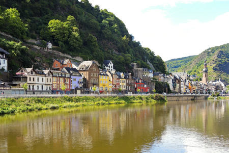 mosel: waterfront in Cochem town on Moselle river, Germany