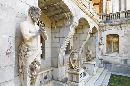 chimera: Sculptures of Satyr and Chimera of Massandra Palace in Crimea