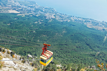 Cableway Miskhor - Ai-Petri on Southern coast of Crimea photo