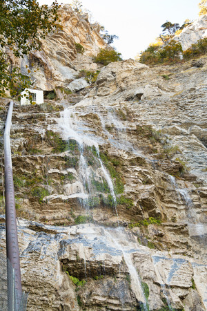 water falls uchan-su in Crimean mountains in autumn photo