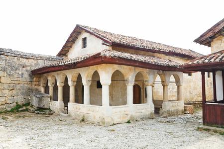 house of prayer: The Big Kenesa (synagogue) - Karaite prayer house, built in 14 century in chufut-kale town, Crimea Stock Photo