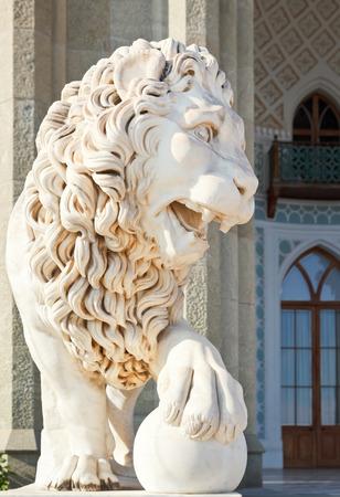 medici lion near south facade of Vorontsov (Alupka) Palace, Crimea
