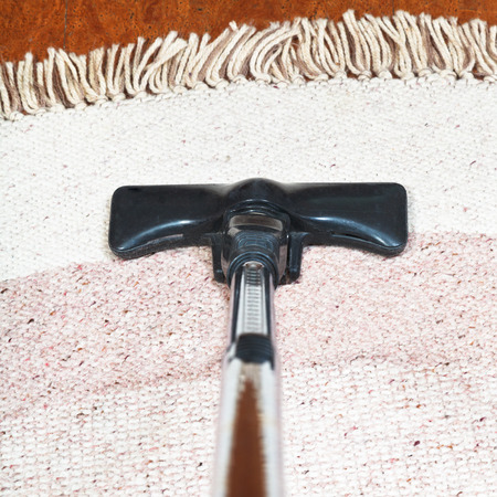 hoover: carpet vacuuming with a hoover at home