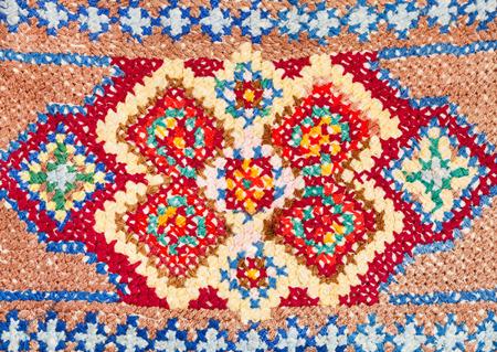 skillfully: vintage knitting craftsmanship - cross-stitch lace close up