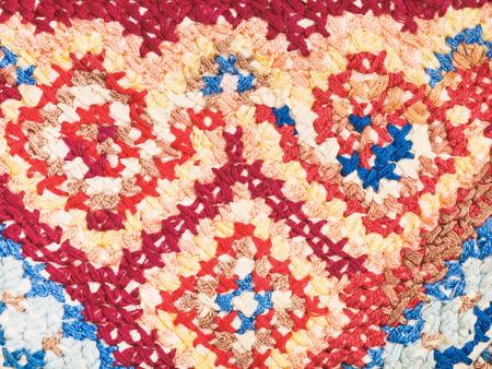punto croce: annata maglia artigianato - ricamo a punto croce vicino Archivio Fotografico