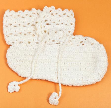 vintage knitting craftsmanship - textile baby Stock Photo