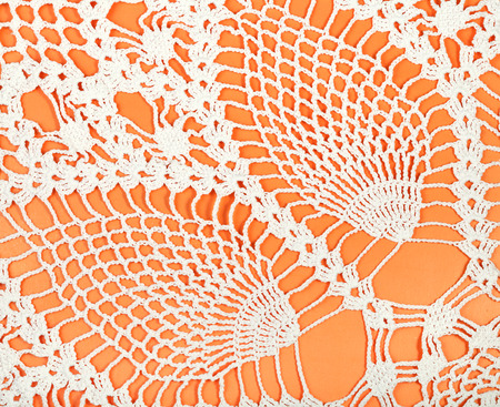 skillfully: vintage knitting craftsmanship - pineapple pattern lace by crochet close up