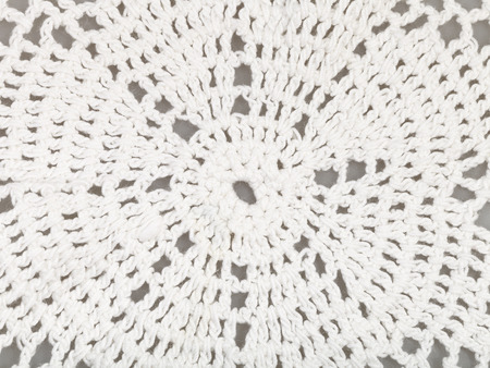 skillfully: vintage knitting craftsmanship - detail of lace embroidered by crochet