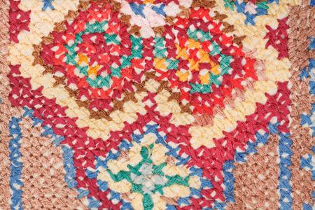 skillfully: vintage knitting craftsmanship - cross stitch needlework close up
