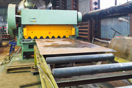 shear machine for metal sheets in mechanical workshop photo