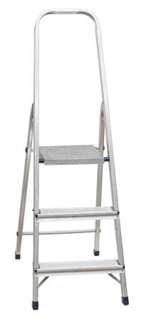 folding: short folding stepladder isolated on white background Stock Photo
