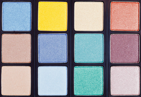 maquillage: background from makeup palette in case close up
