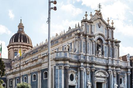 sant agata: Saint Agatha Cathedral in Catania city, Sicily, Italy