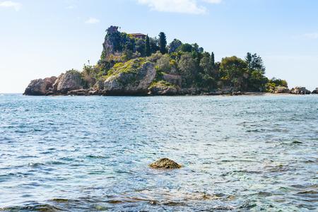 bella: small island Isola Bella near Taormina resort, Sicily in spring