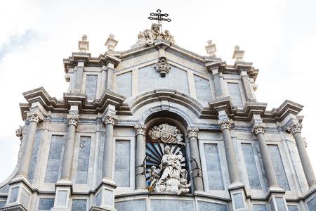 sant agata: facade of Saint Agatha Cathedral in Catania city, Sicily, Italy