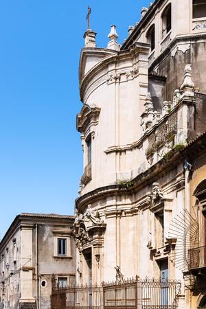 side view of Church San Benedetto on via Crociferi in Catania city, Sicily, Italy photo