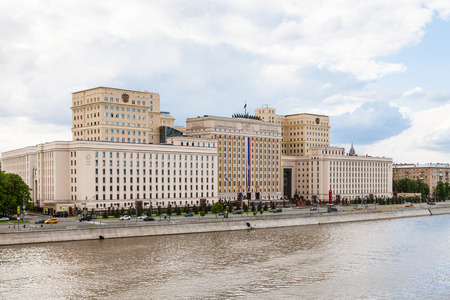 stalin empire style: MOSCOW, RUSSIA - MAY 30, 2015: headquarters of the Ministry of Defense of Russia on Frunzenskaya embankment in Moscow, Russia Editorial