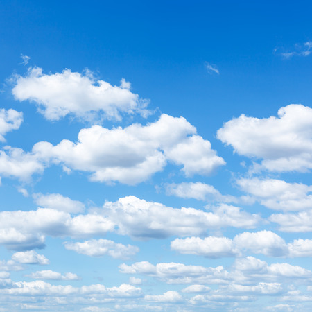 blue sky: natural background - many little white clouds in summer blue sky