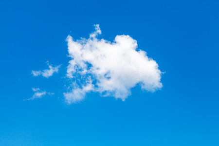 sky natural: white cloud in blue summer sky in sunny day Stock Photo