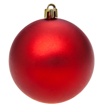 red christmas ball: christmas decorations - xmas dark red ball isolated on white background