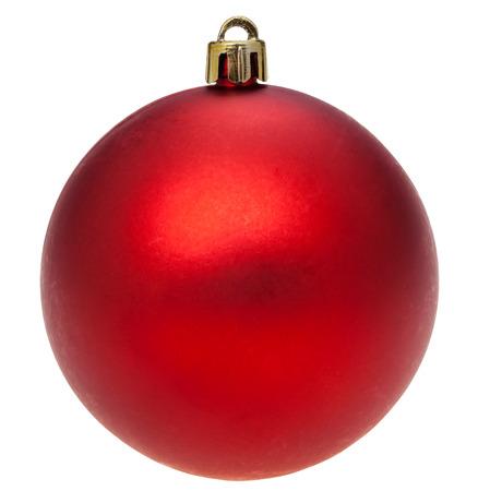xmas background: christmas decorations - xmas dark red ball isolated on white background