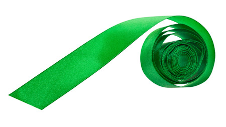 packing tape: green satin packing tape isolated on white background