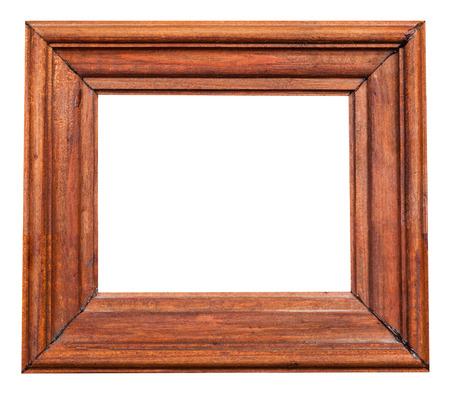 ritagliare: annata dipinto ampia cornice di legno con ritagliato uno spazio vuoto isolato su sfondo bianco