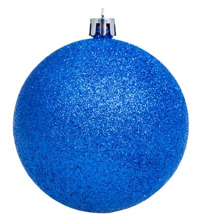 ball isolated: christmas decorations - xmas blue ball isolated on white background Stock Photo