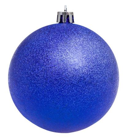 Décorations De Noël - Boule Bleue De Noël Isolé Sur Fond Blanc ...