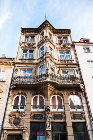 salvator: BRATISLAVA, SLOVAKIA - SEPTEMBER 22, 2015: Pharmacy Salvator (Lekarna u Salvatora) on Panska street in old Town. Pharmacy Salvator is neo-renaissance building, it was constructed in 1904 Editorial