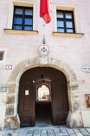 sovereign: BRATISLAVA, SLOVAKIA - SEPTEMBER 23, 2015: Embassy of the Sovereign Military Hospitaller Order of St. John of Jerusalem of Rhodes and Malta in Bratislava on Kapitulska street