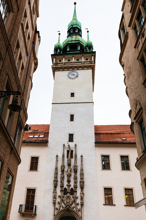 old town hall: travel to Brno city - old Town Hall (Stara Radnice) tower in Brno old town, Czech