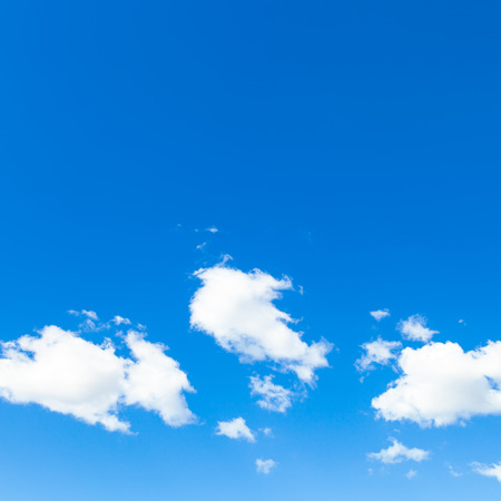 natural background - few white clouds in blue sky in autumn day, Vienna Reklamní fotografie